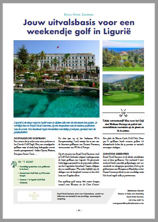 Royal Hotel Sanremo_Tourism Golf Cup